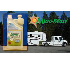 Micro-Blaze Septic all natural, microbial based liquid that control odors and treat toilet and septic systems